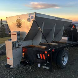 Snowline Alaska's newest plow truck, prepped and ready for a season of ice and snow sanding